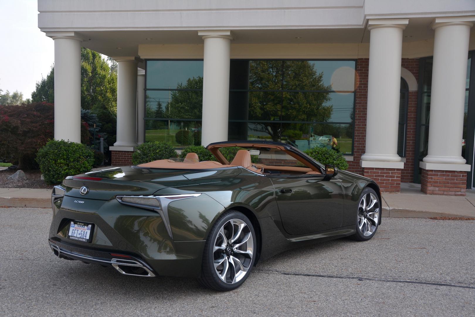 Lexus LC 500 Convertible rear side
