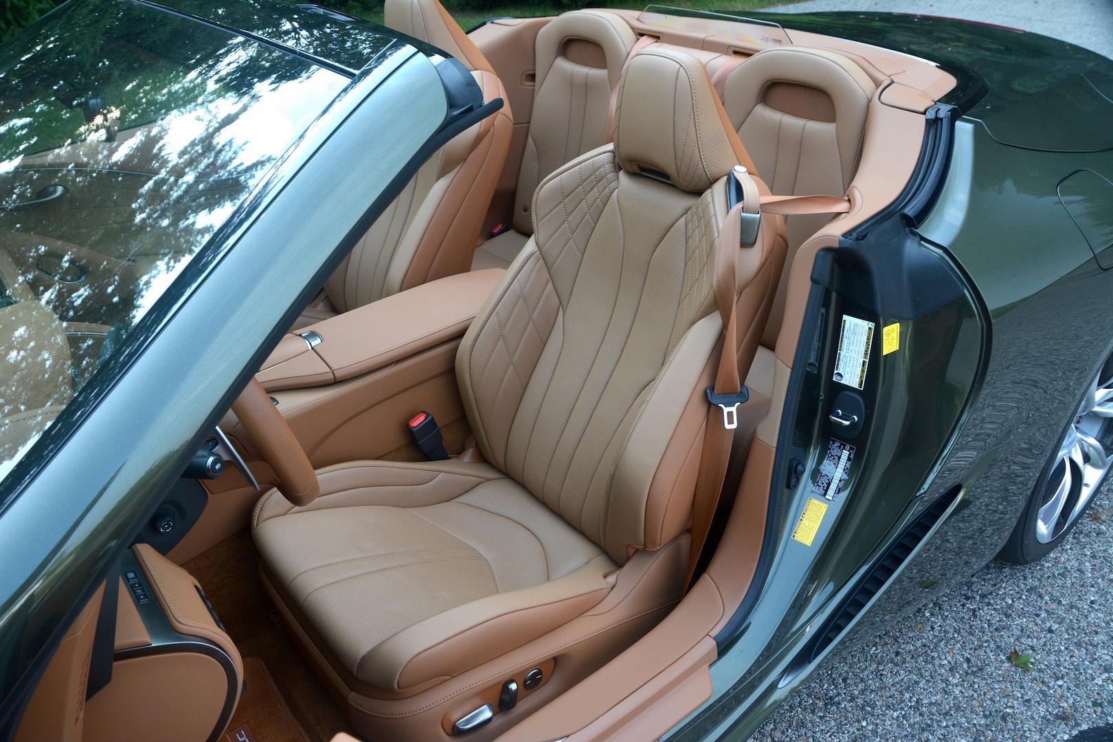 Lexus LC 500 Convertible seats