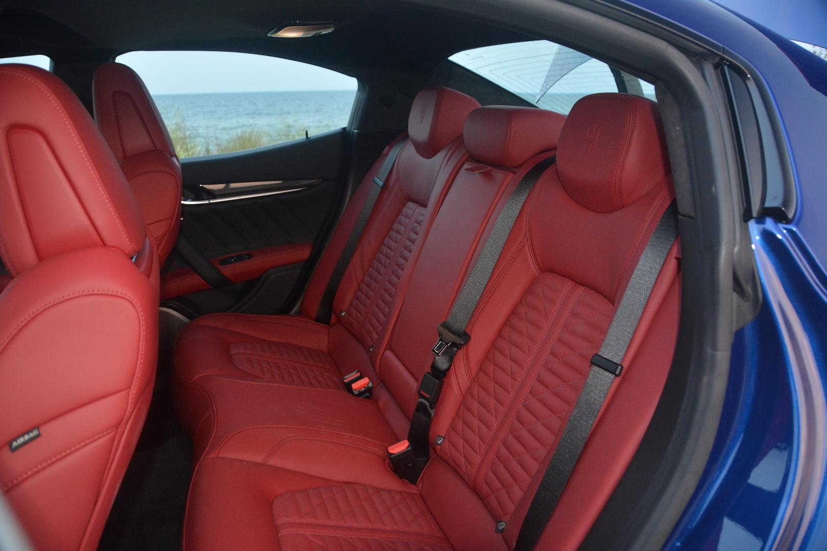 Maserati Ghibli Trofeo rear seats