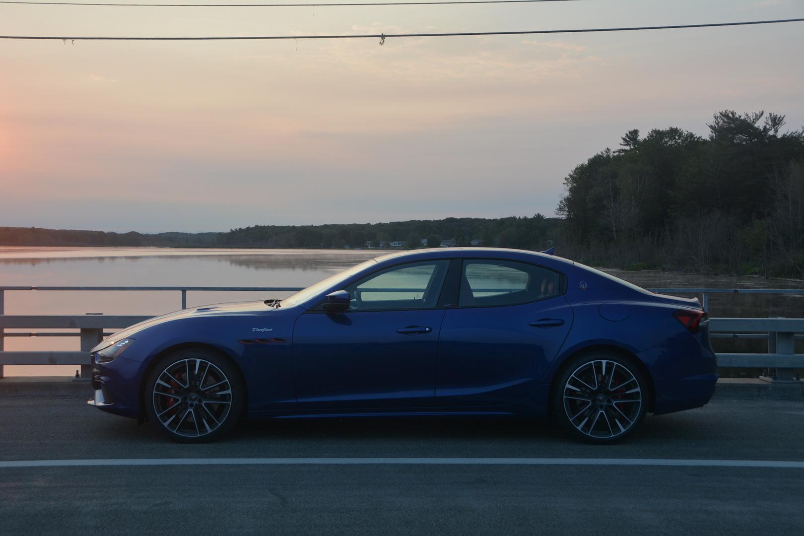 Maserati Ghibli Trofeo sunset