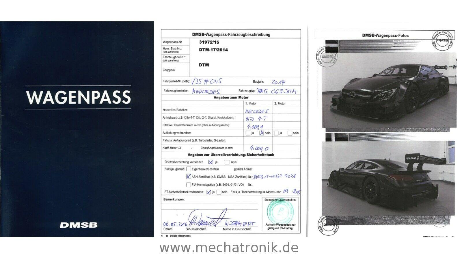 Mercedes-AMG C63 DTM cert