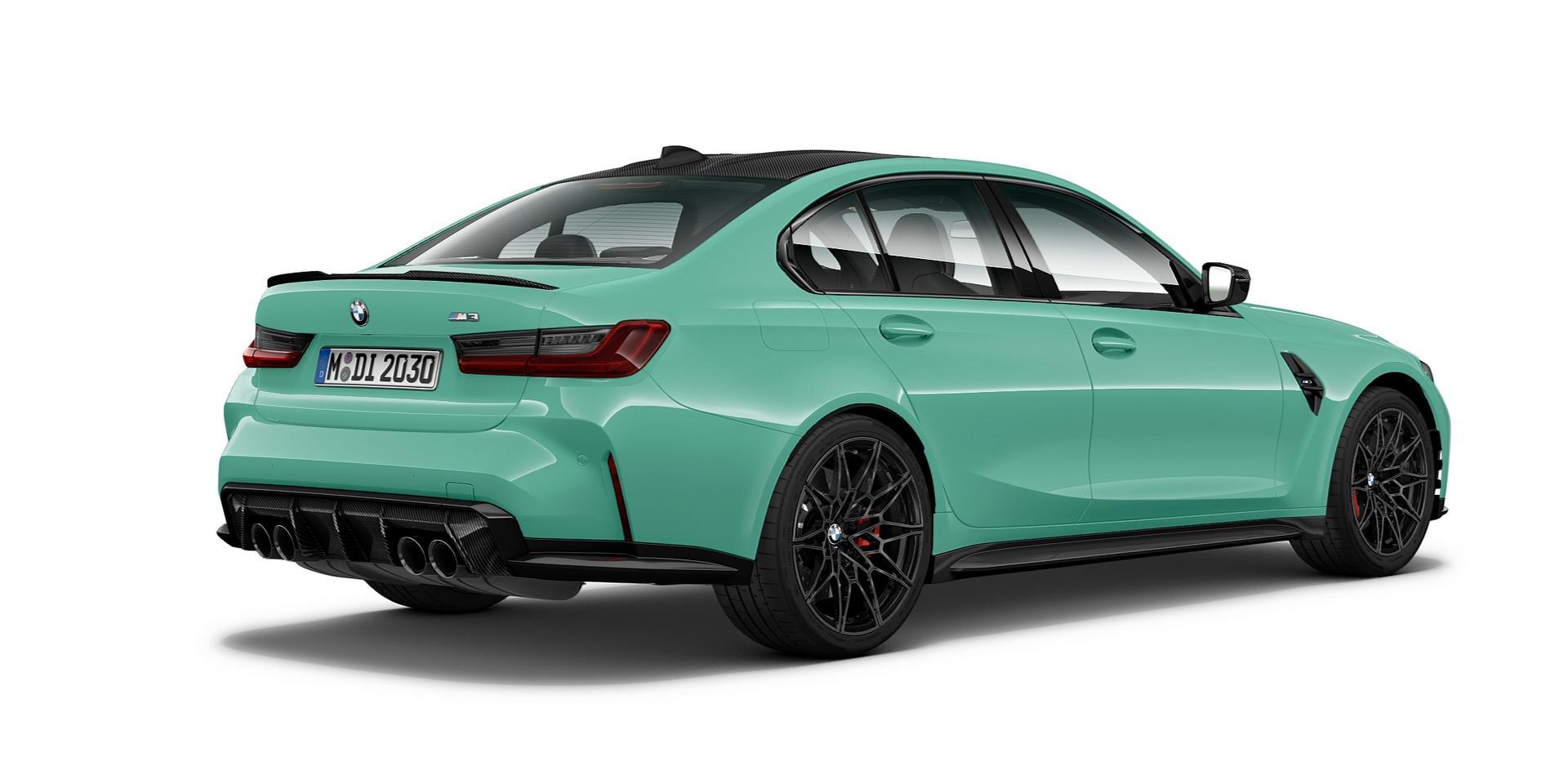 Mint Green BMW M3 CP rear