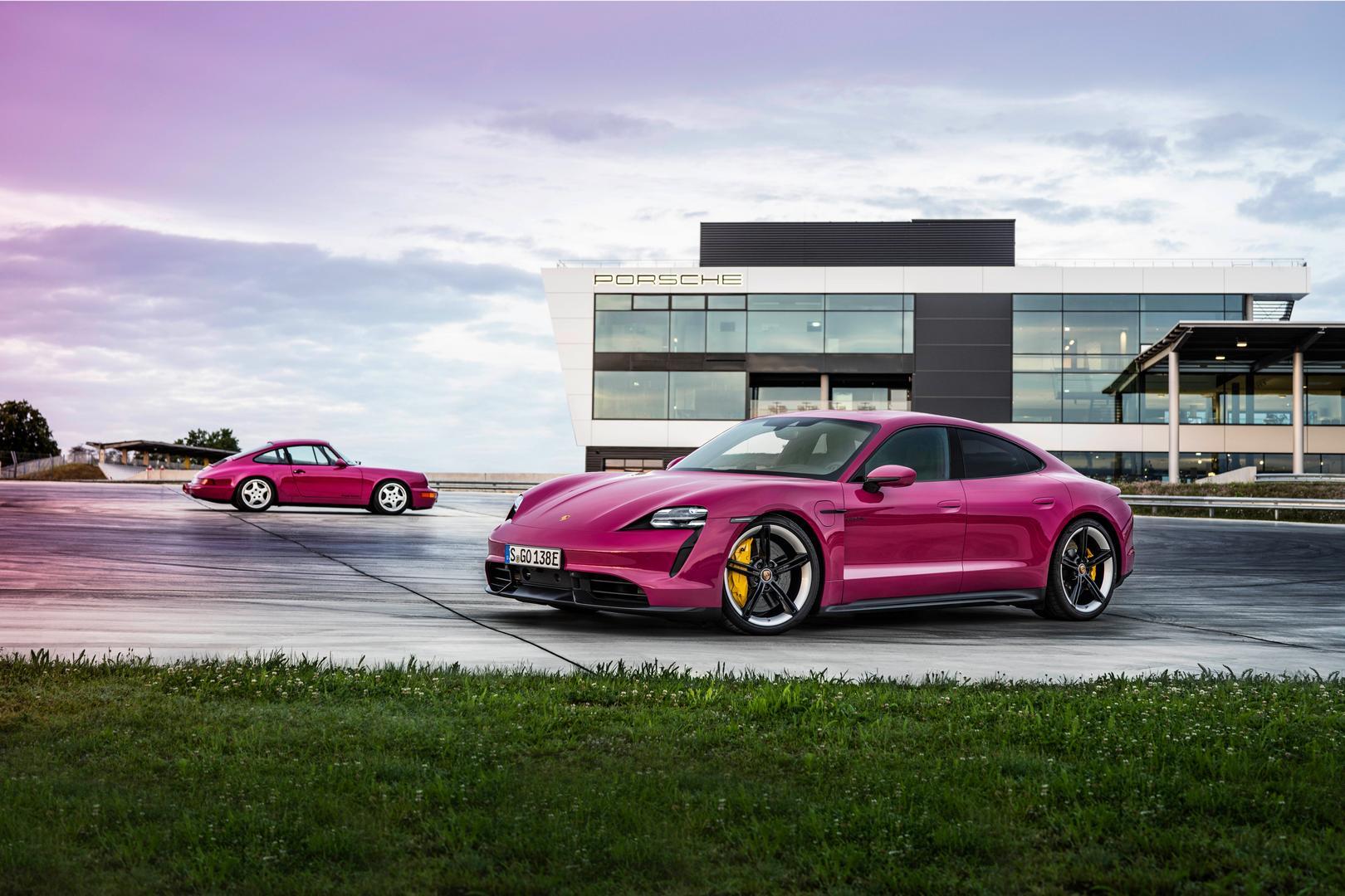 Porsche Taycan pink