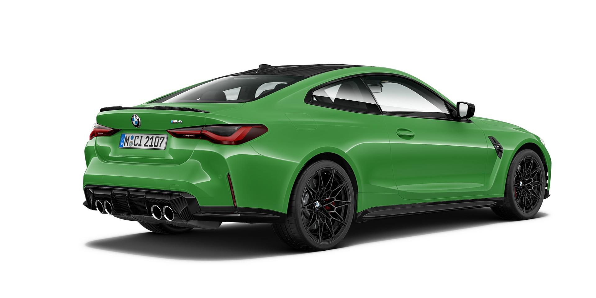 Signal Green BMW M4 Coupe rear