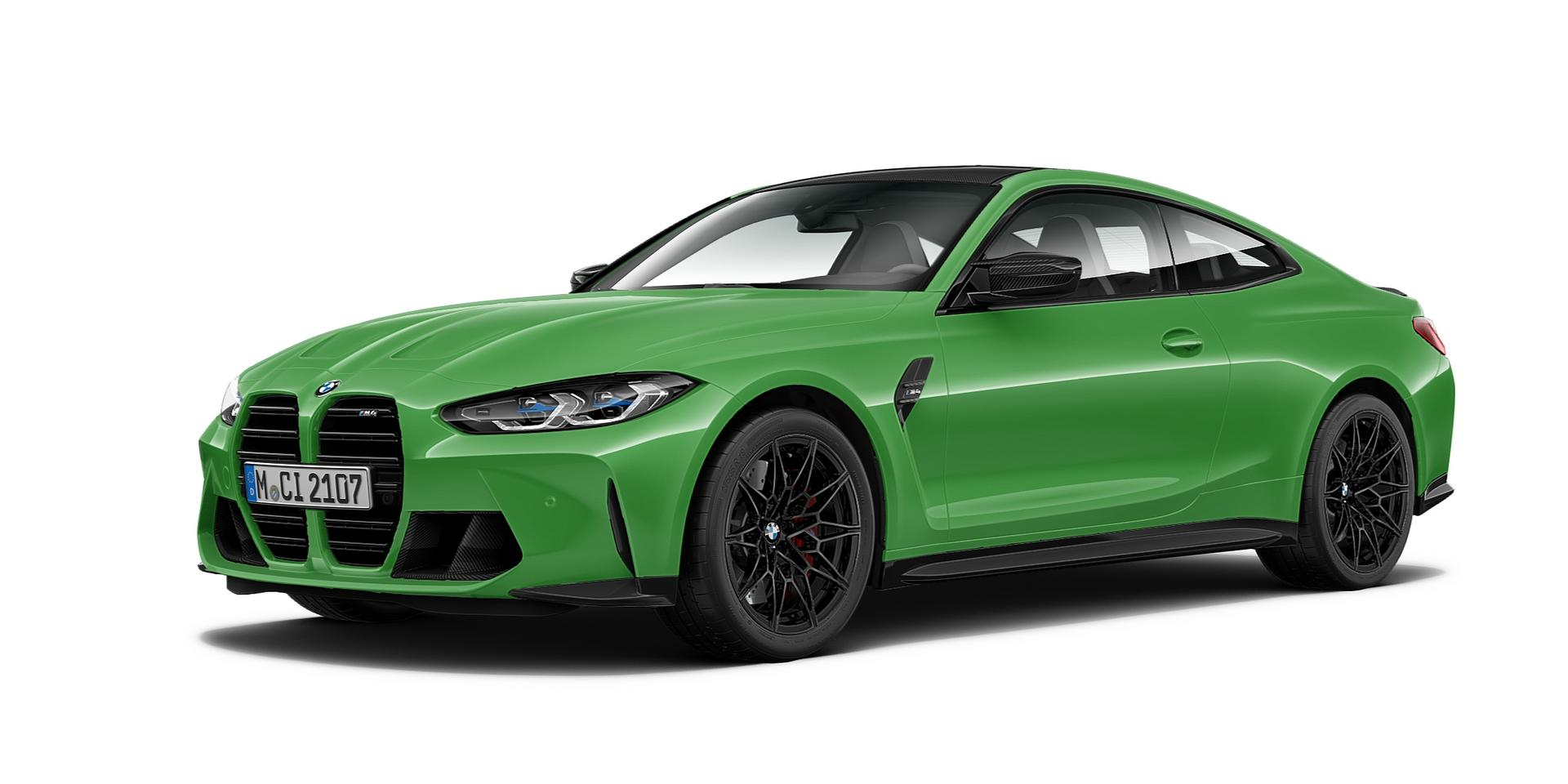 Signal Green BMW M4 Coupe