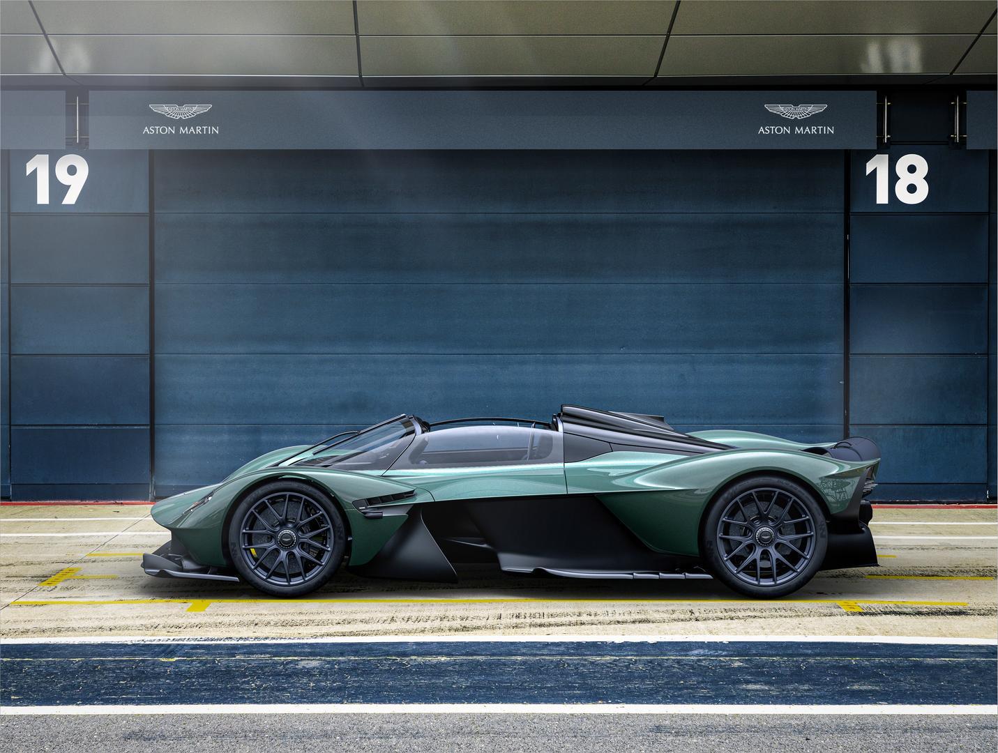 Aston Martin Valkyrie Spider side
