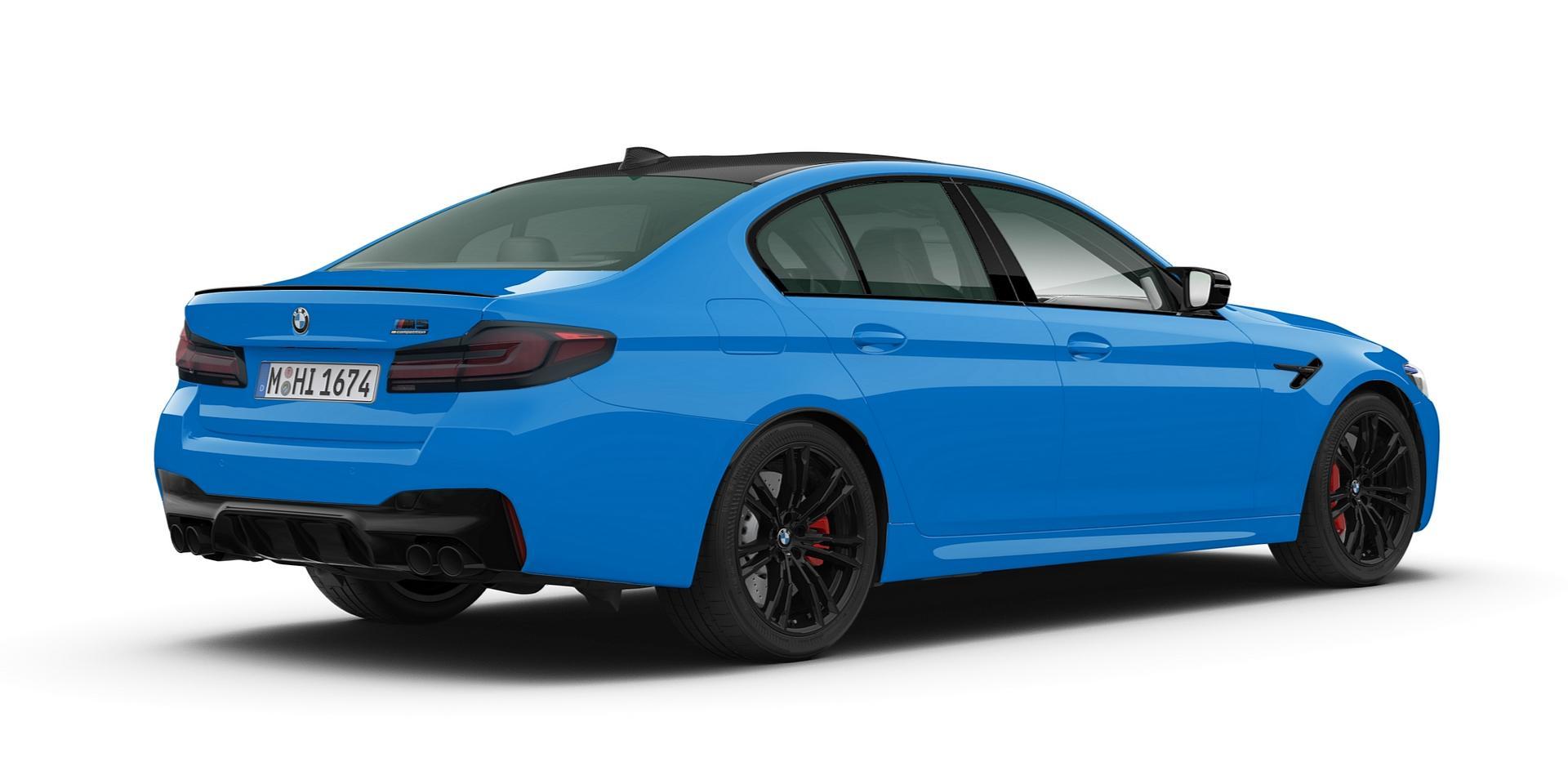 Voodoo Blue BMW M5 CP rear
