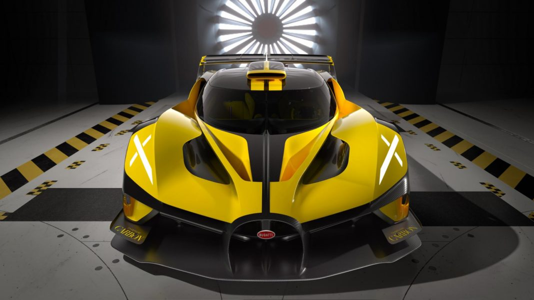 Yellow Bugatti Bolide