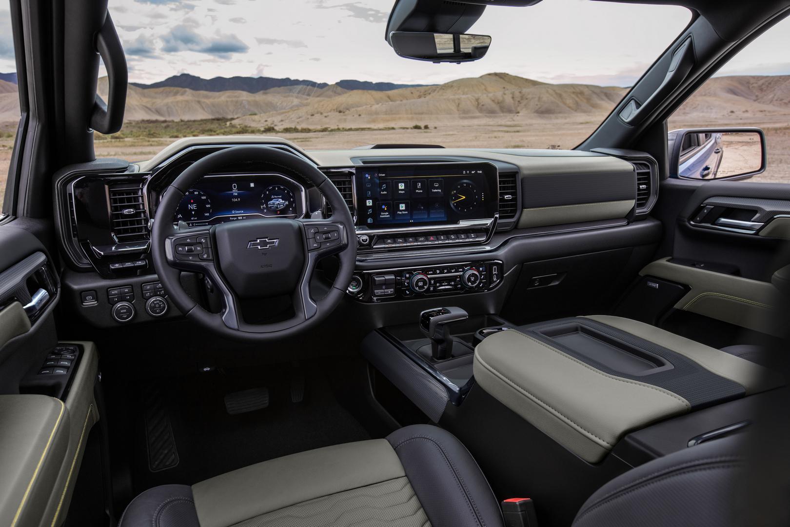 2022 Silverado ZR2 interior