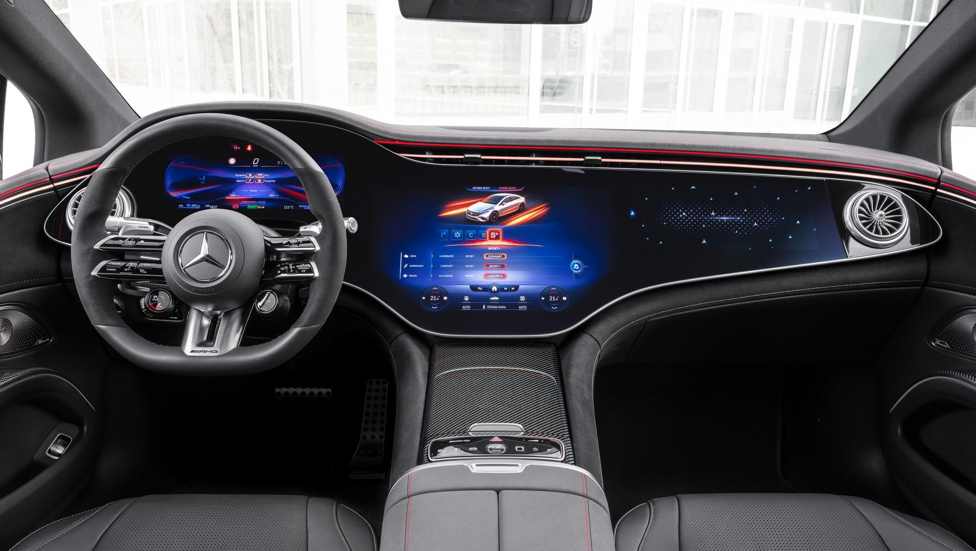 Mercedes-AMG EQS 53 4MATIC+, 2021Mercedes-AMG EQS 53 screen