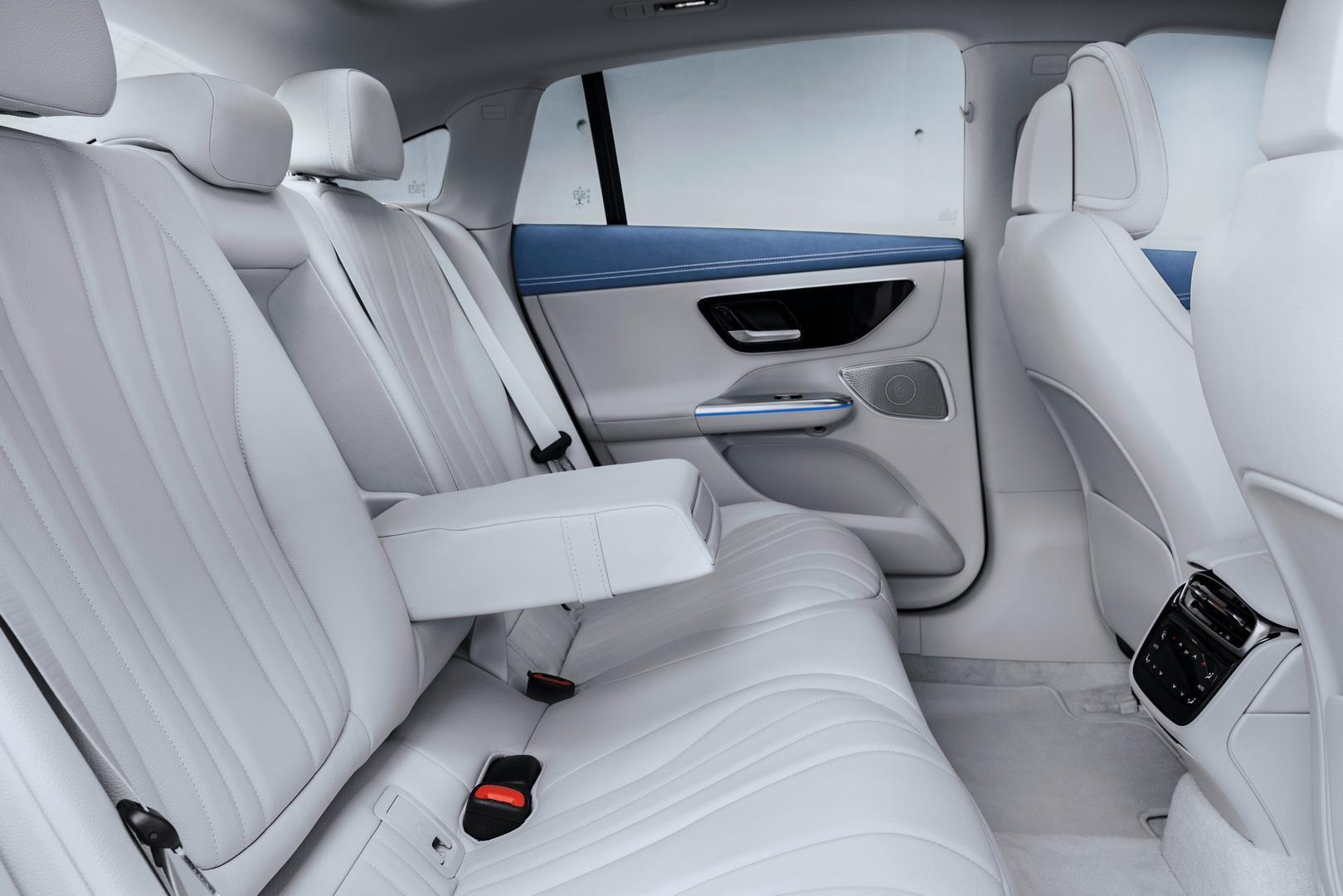 Mercedes-Benz EQE 350 rear seats