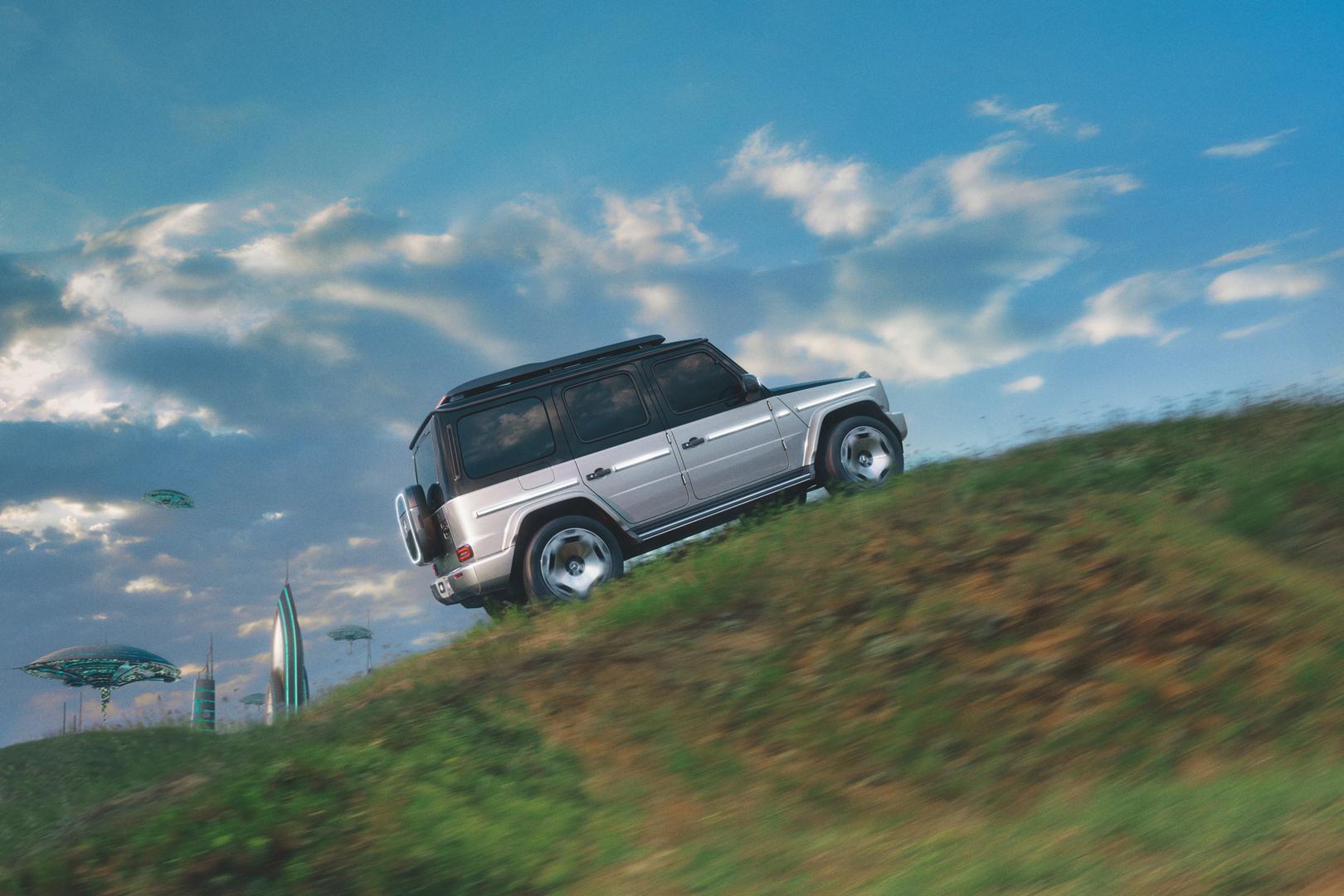 Mercedes-Benz EQG climbing