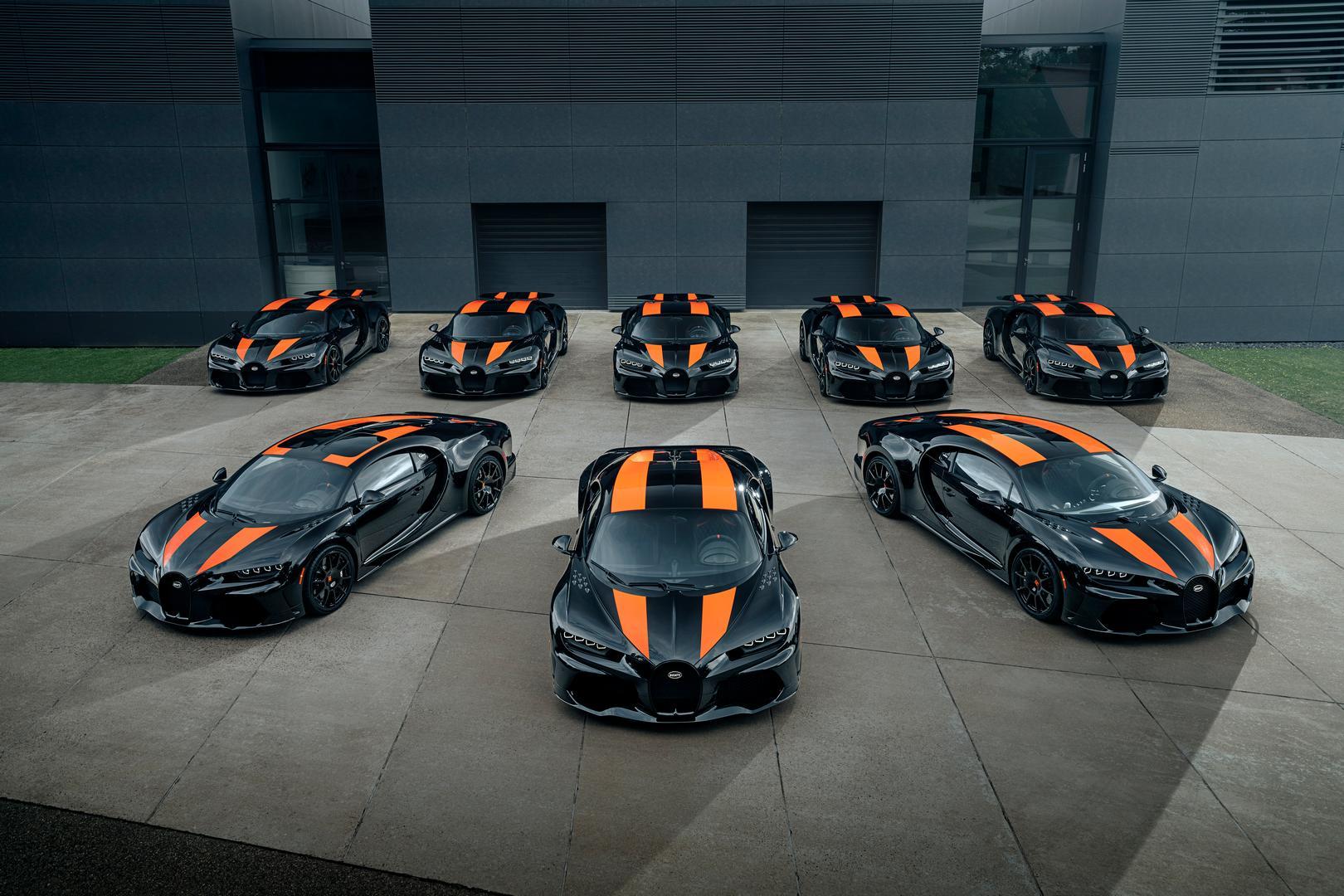 8 Bugatti Chiron Super Sport 300+ Delivered for $4.1 Million a Piece!