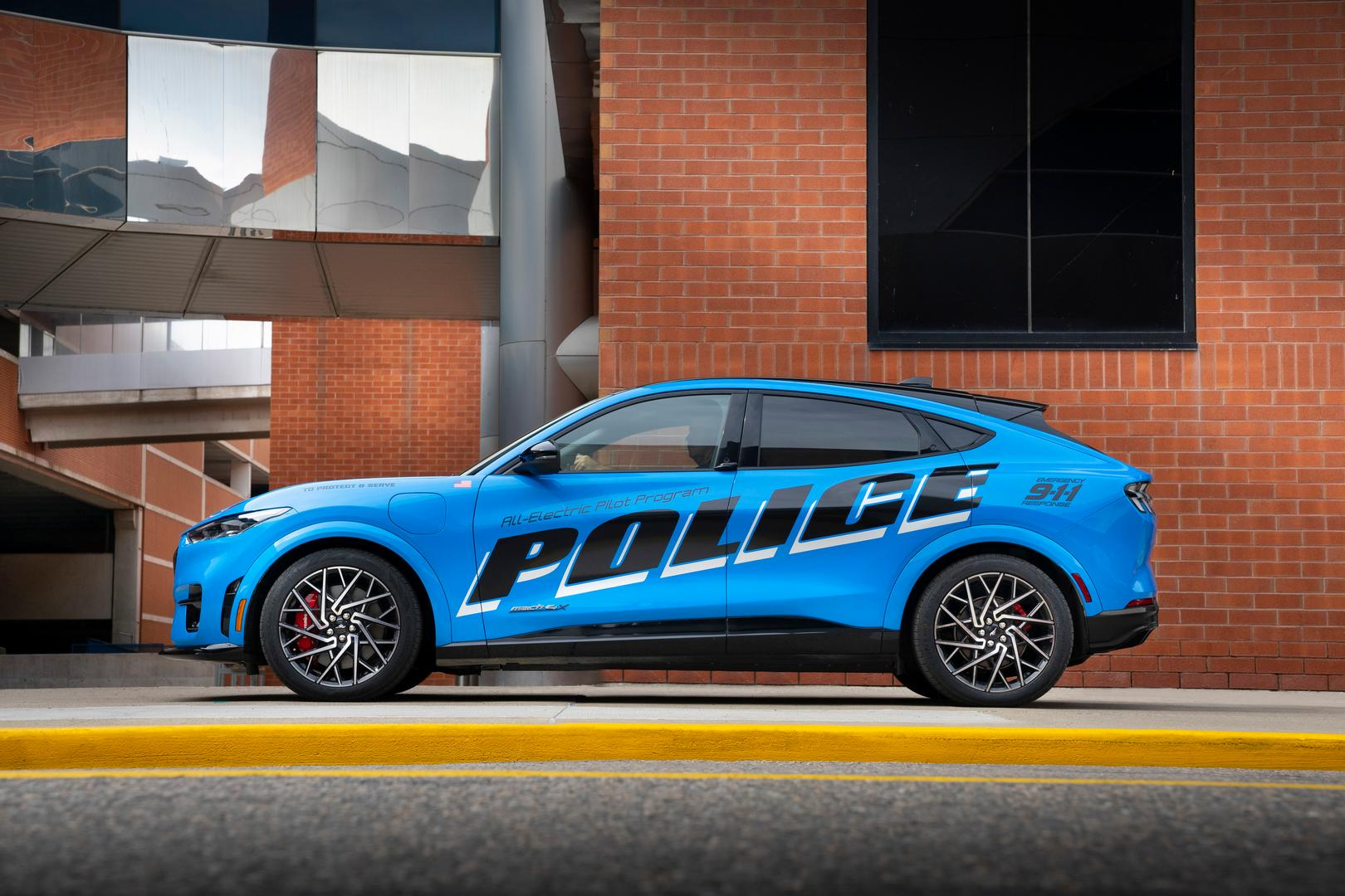 Ford Mustang Mach E Police side