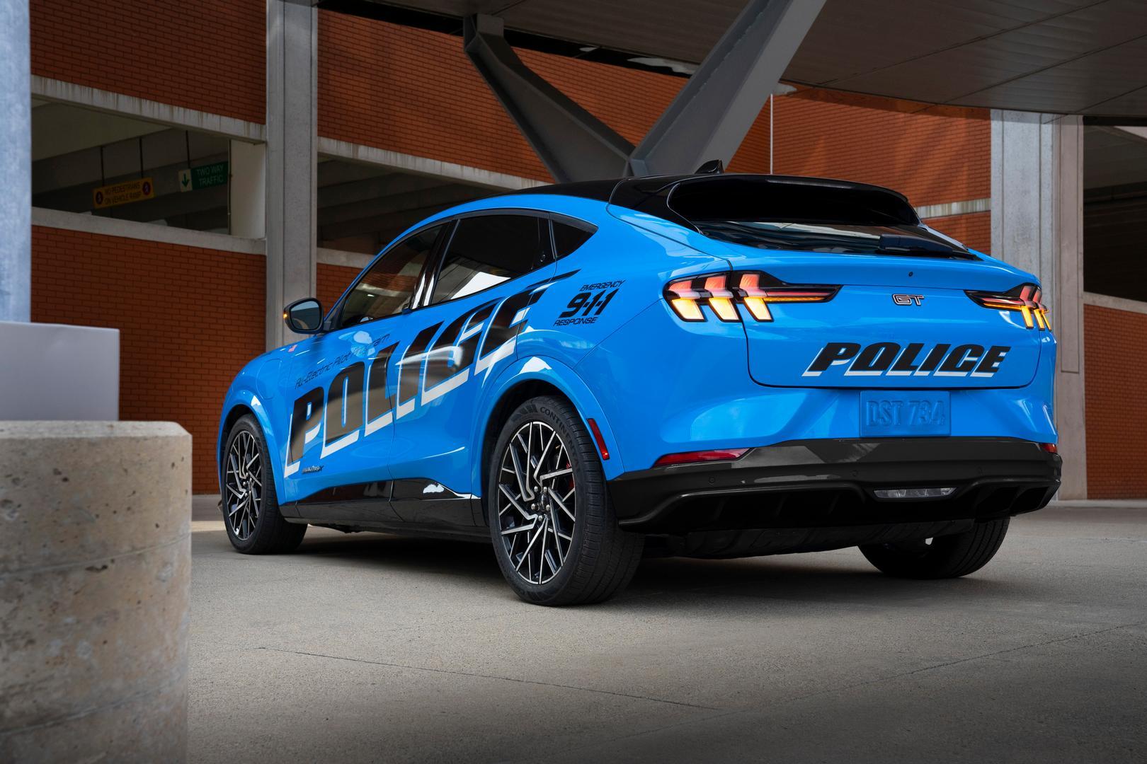 Blue Mustang Mach E