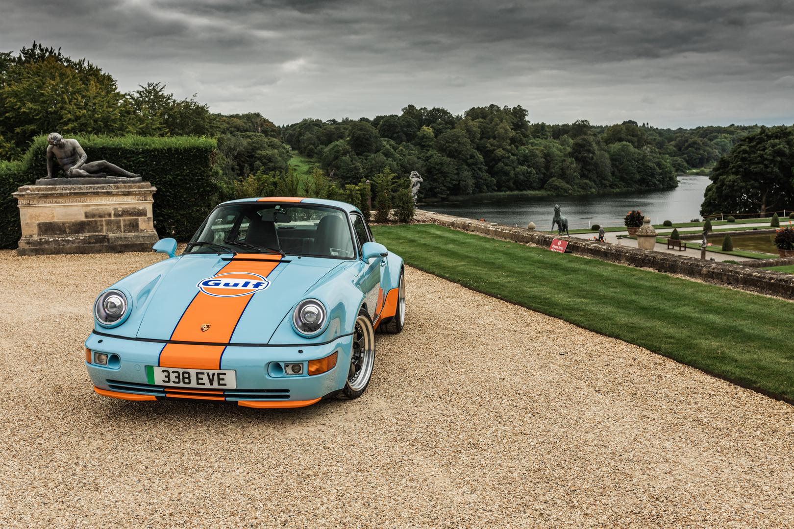 Gulf Porsche 964 Ditches Aircooled Engine for a Full Electric Powertrain