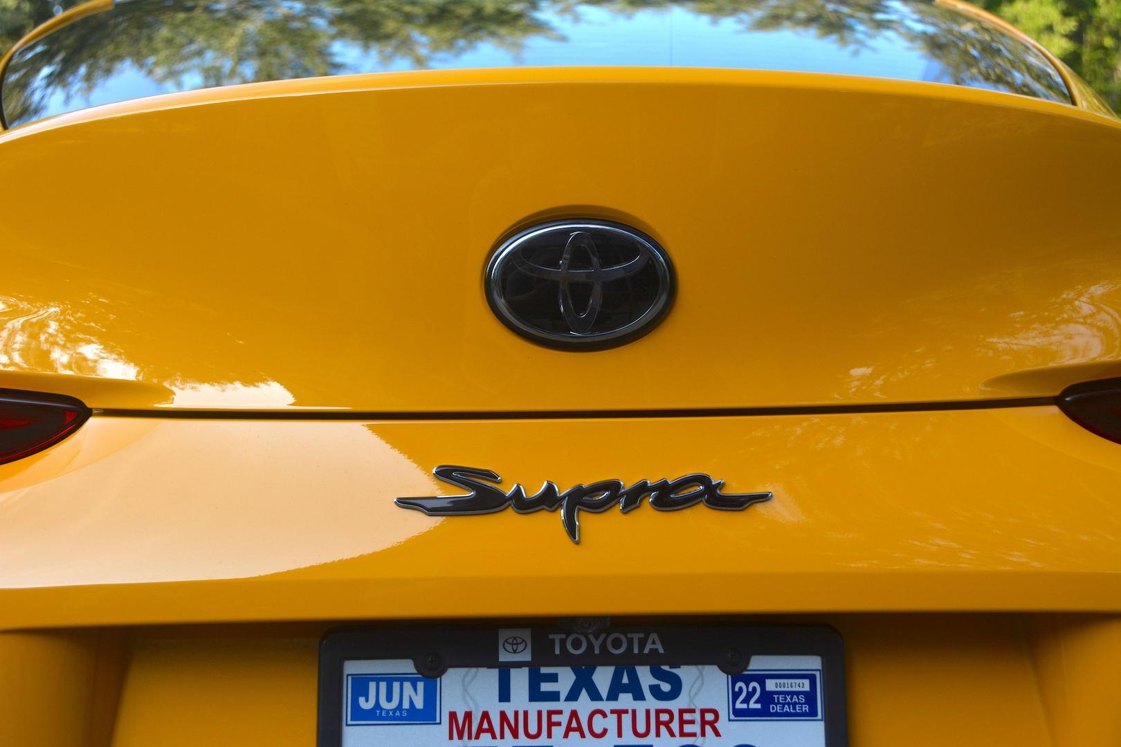 Toyota GR Supra rear badge