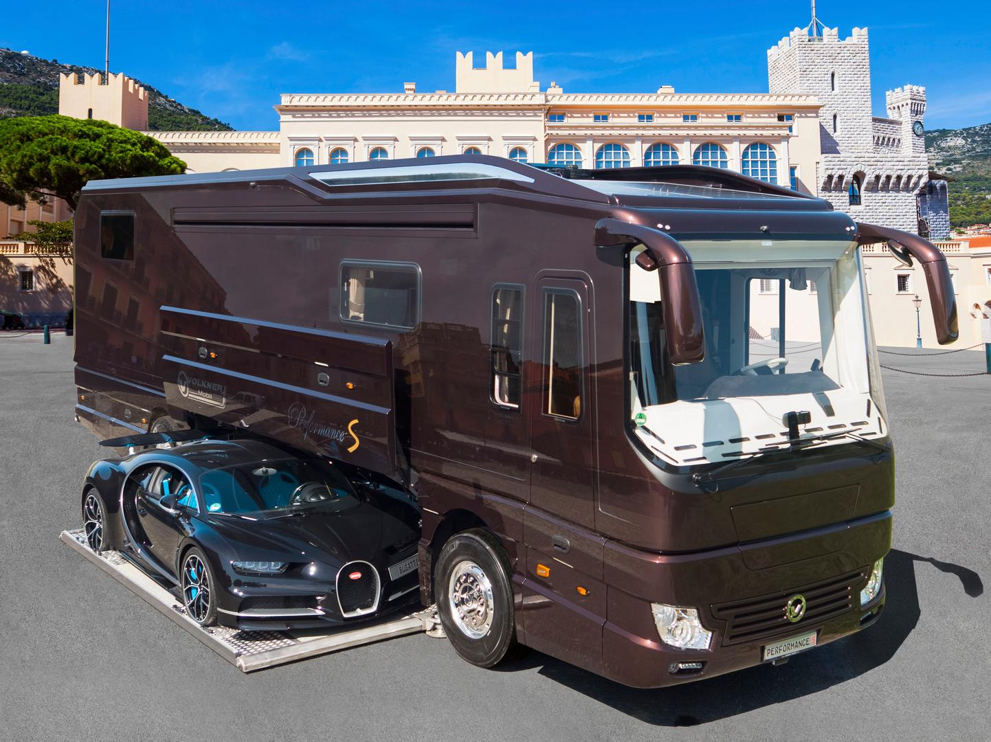 This $4.7 Million Bus Comes with a Bugatti Chiron Inside – Road Yacht