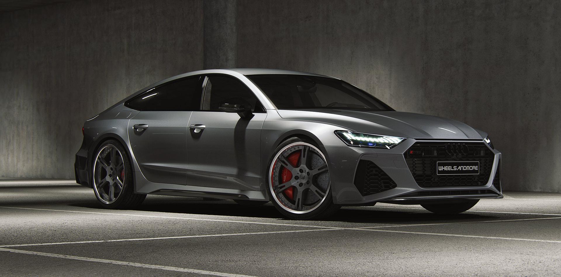 Grey Audi RS7