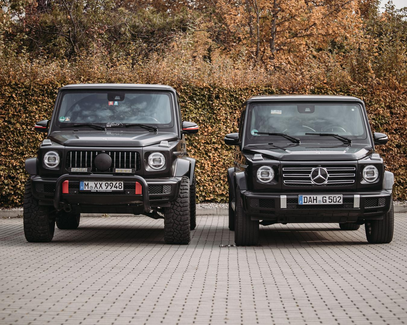 Mercedes G Wagon normal vs lifted