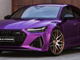 Purple Audi RS7