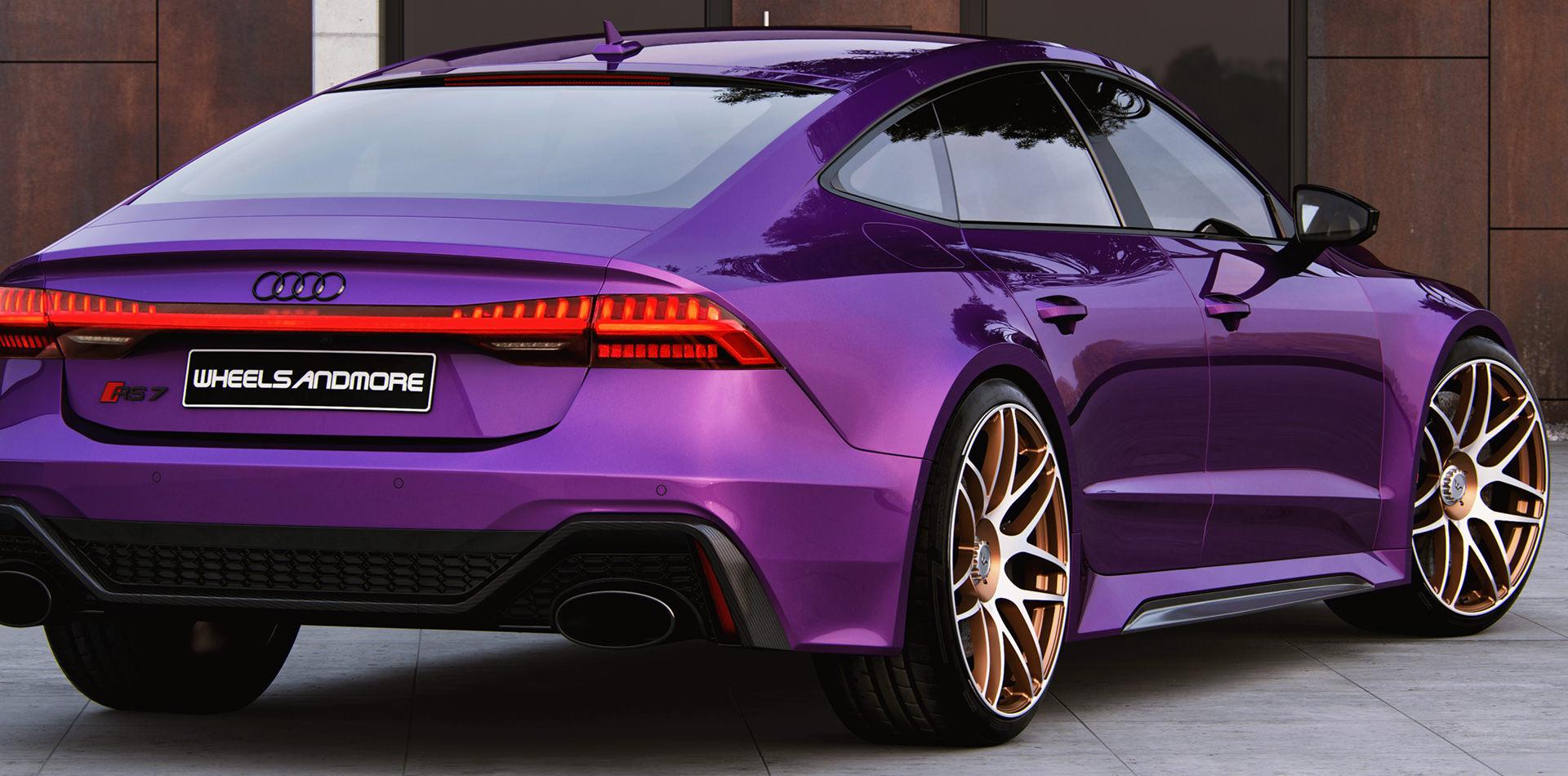 Purple Audi RS7 rear