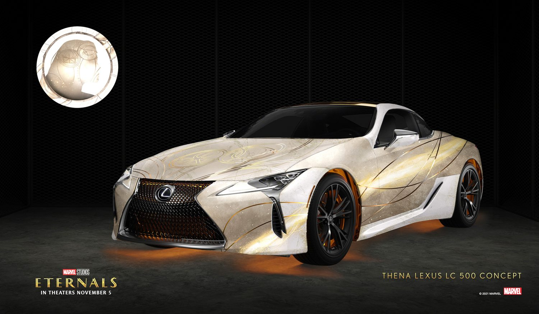 Lexus Creates 10 Marvel Eternals Character Wraps on their Cars