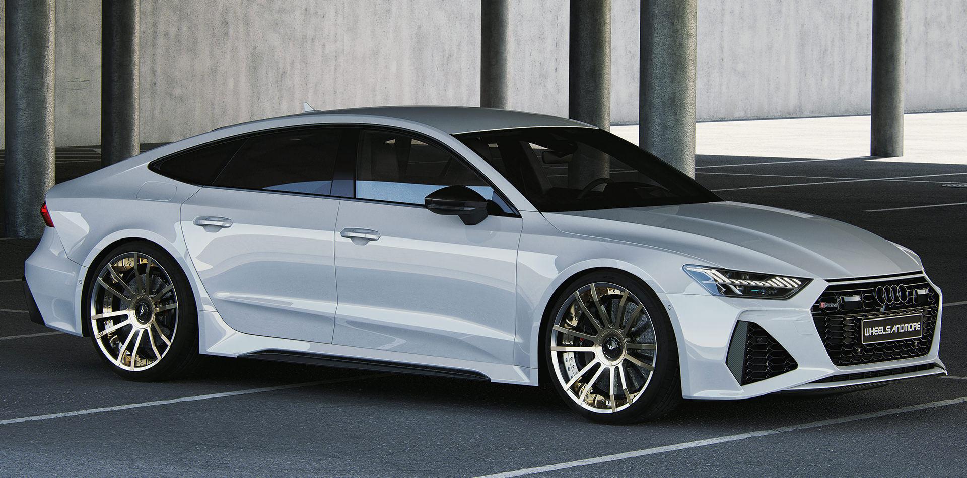 White Audi RS7